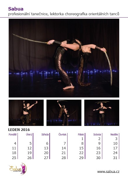 Sabua - kalendář 2016