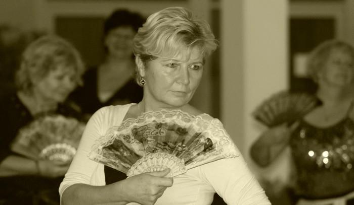 tanec s vějířem
